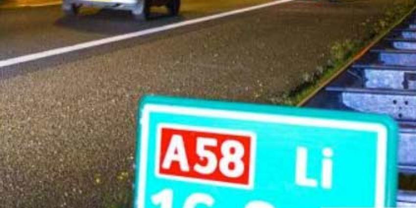A58 dicht door ernstig ongeval