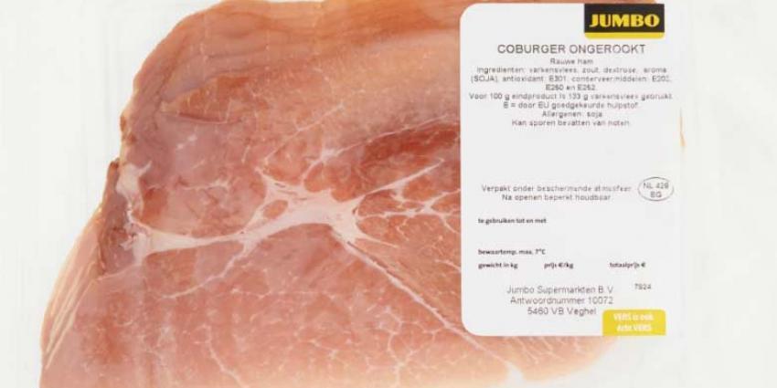 Jumbo roept ongerookte Coburgerham vanwege salmonella bacterie