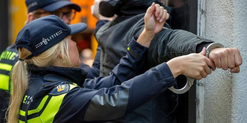 Foto van aanhouding door politie