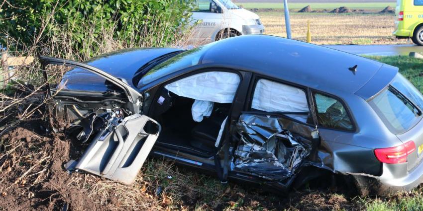 Flinke schade bij aanrijding voertuigen Exloërveen