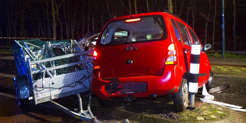 Veel schade bij aanrijding in Wijbosch