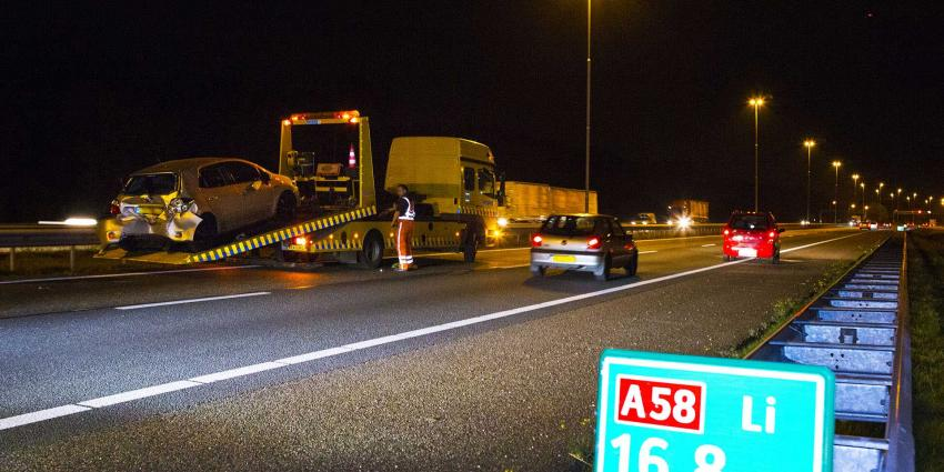 Kilometers lange file na ongeval op A58 bij Oirschot