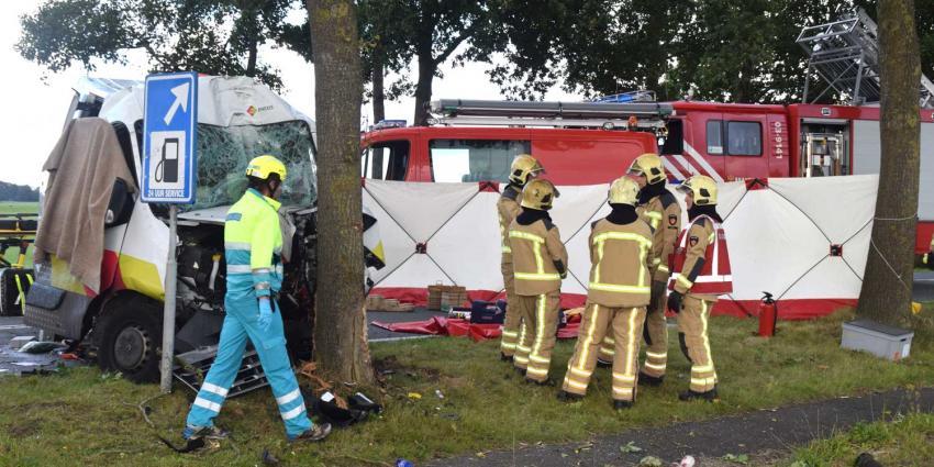 Man (36) omgekomen na aanrijding tegen boom bij Dwingeloo