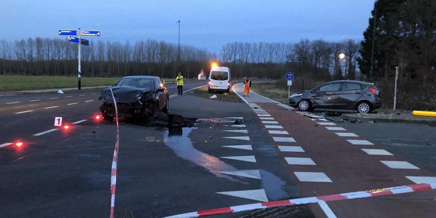 Politieonderzoek ongeval drie auto's N618 in Sint-Oedenrode