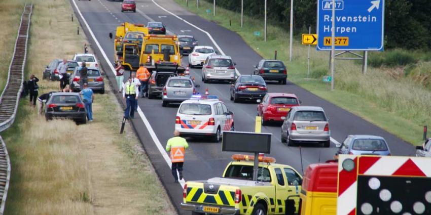Foto van aanrijding op snelweg | Willy Smits | www.112journaal.nl