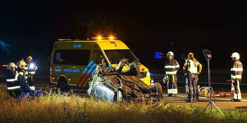 Vrouw (59) uit Best omgekomen bij zware aanrijding op A50