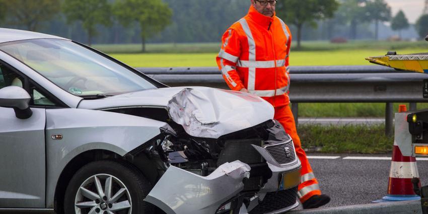 De kop- staartbotsing gebeurde op de snelweg A58 bij Oirschot