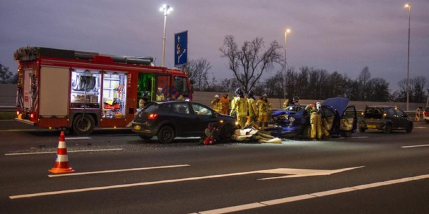 Chaos door ongeval op de A4