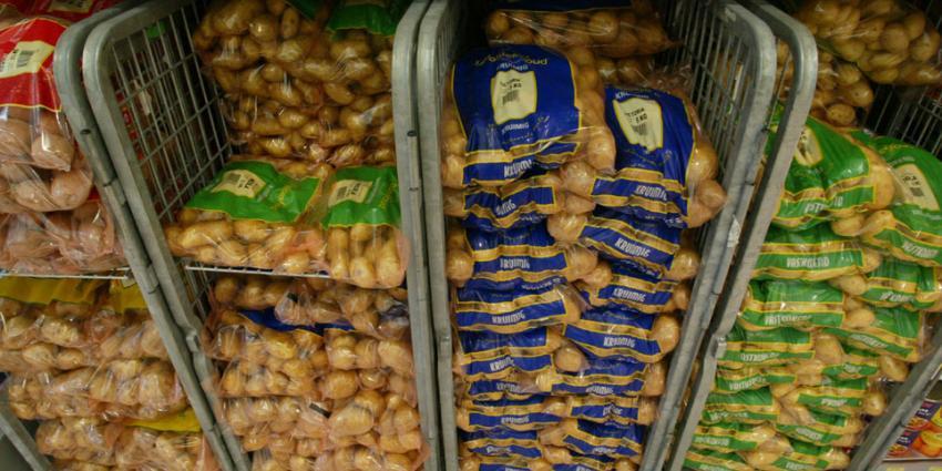 Minder aardappelen per hectares