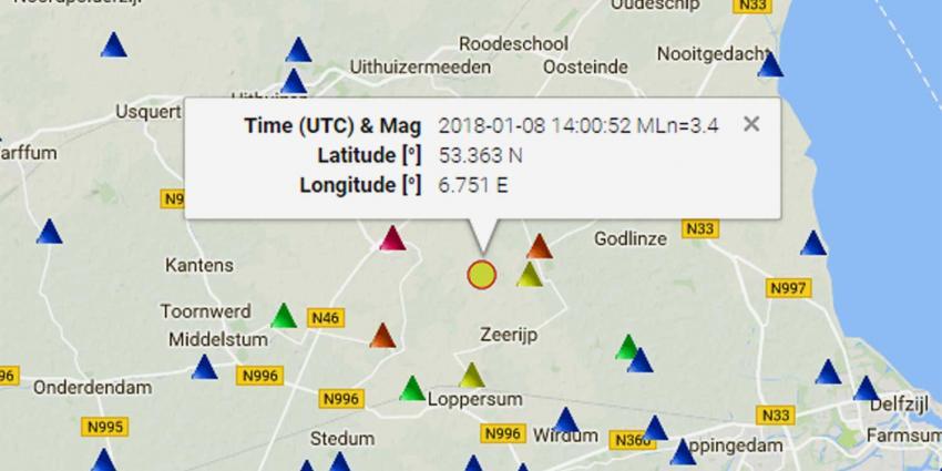 Zware aardbeving van 3.4 op de schaal van Richter treft Groningen