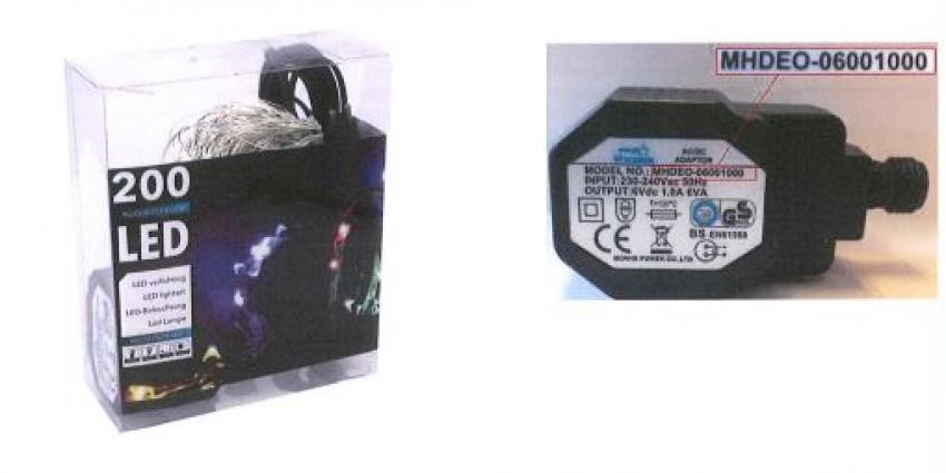 Veiligheidswaarschuwing draadverlichting Zilver 10×20 24V Multi
