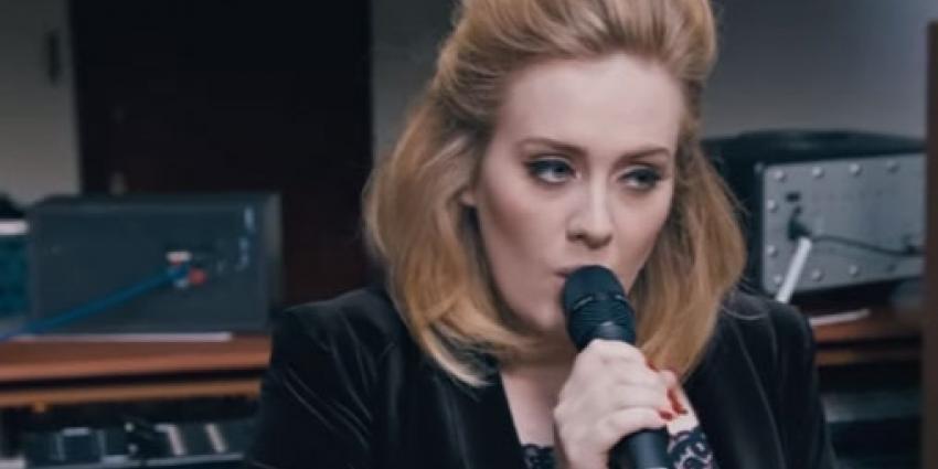 Adele in Amsterdam aangekomen