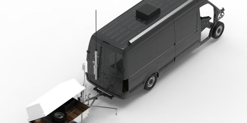 Het TESt Lane Analysis Mobile (TESLA-M) voertuig