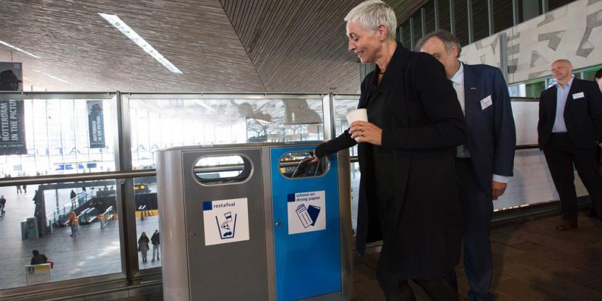 Proef met afvalscheiding op stations voor betere recycling