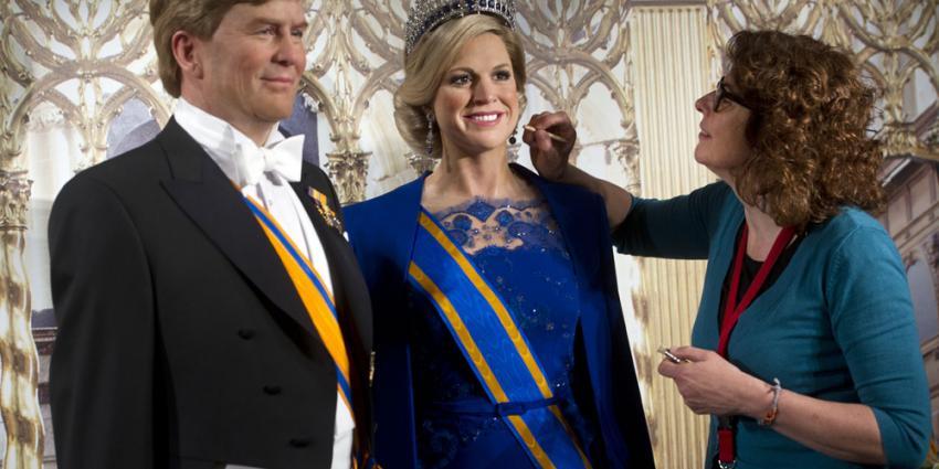 Foto van wassen beelden koning en koningin   Madame Tussauds