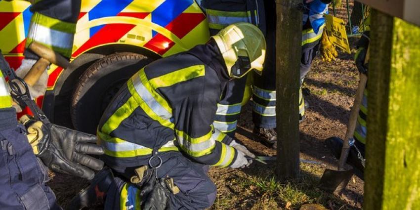 Amazone van paard gevallen in natuurgebied bij Boxtel, ambulance kan niet door toegangspoort