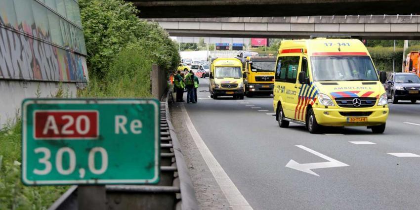 Vier gewonden bij ongeval A20