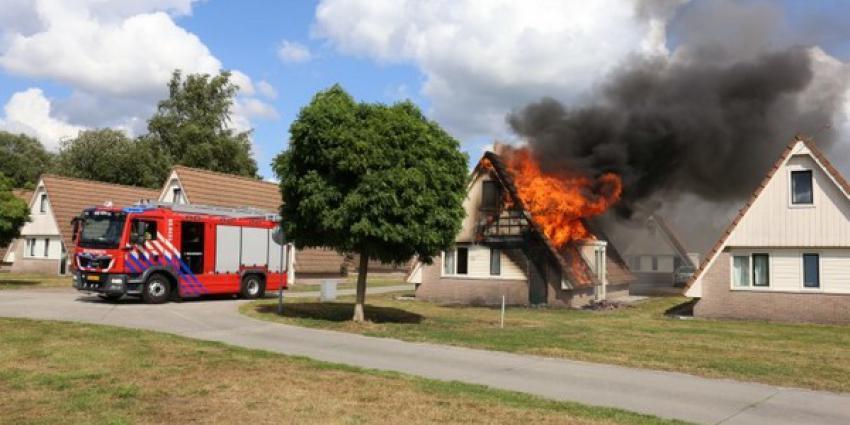 brand, vakantiepark, woning, nieuwediep