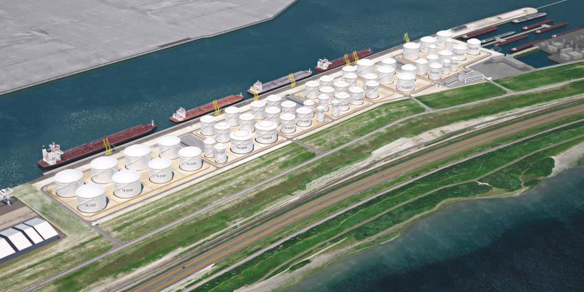 Nieuwe tankerterminal op Maasvlakte