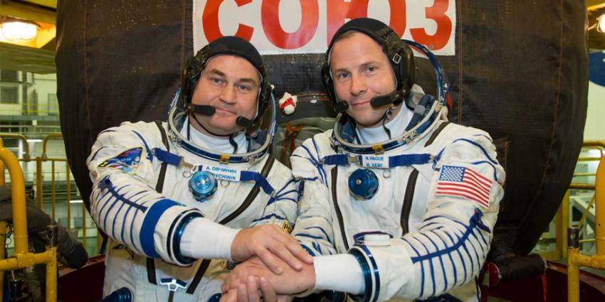 Astronauten onderweg naar ISS maken noodlanding na lancering raket