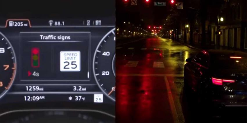 Nieuwe Audi 'weet' wanneer verkeerslicht op groen springt
