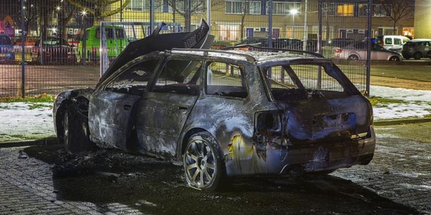 Gestolen Audi uitgebrand op parkeerterrein in Den Bosch