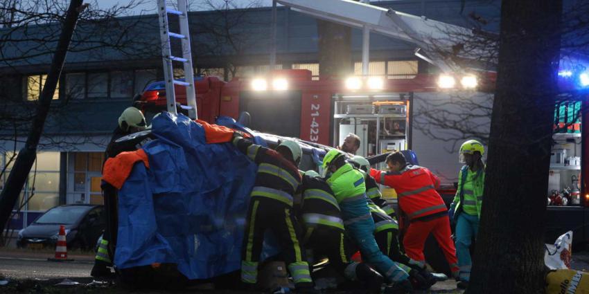 Gewonde bij ongeval op Laagstraat in Vught