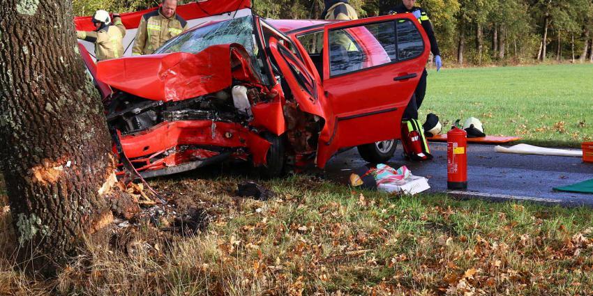 Automobiliste omgekomen na botsing tegen boom