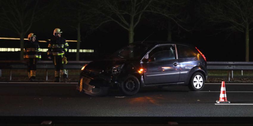 Verkeersongeval met twee voertuigen op snelweg A2 bij Boxtel