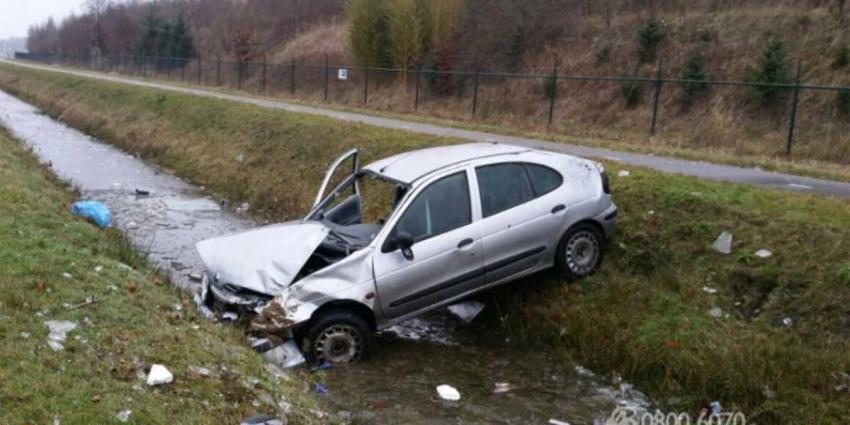 Politie pakt verdachte Audi A8 op na van de weg drukken auto Eindhoven