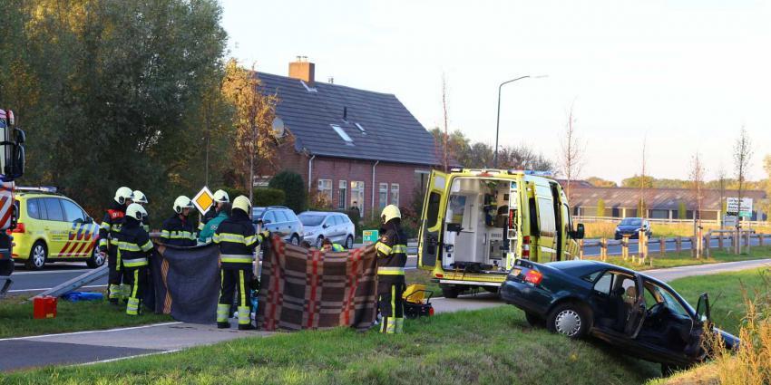Automobilist gereanimeerd bij ernstig ongeval op N618 in Boxtel