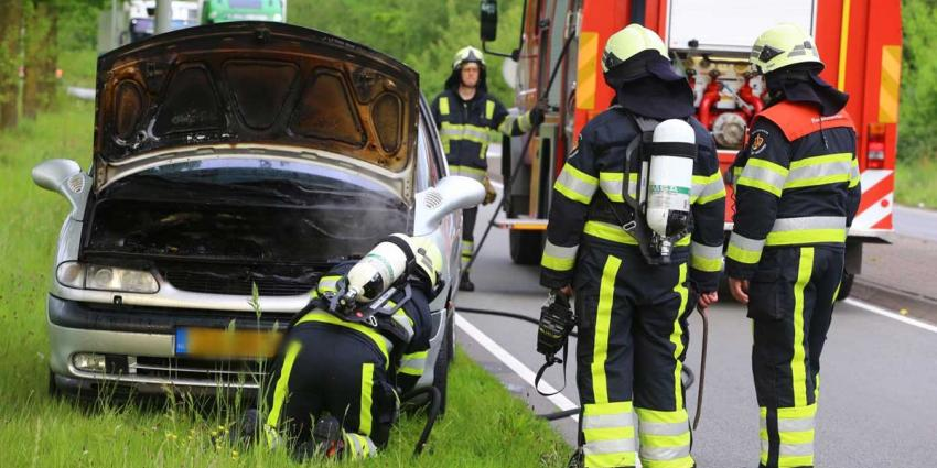 Auto vat vlam op Keulsebaan in Boxtel