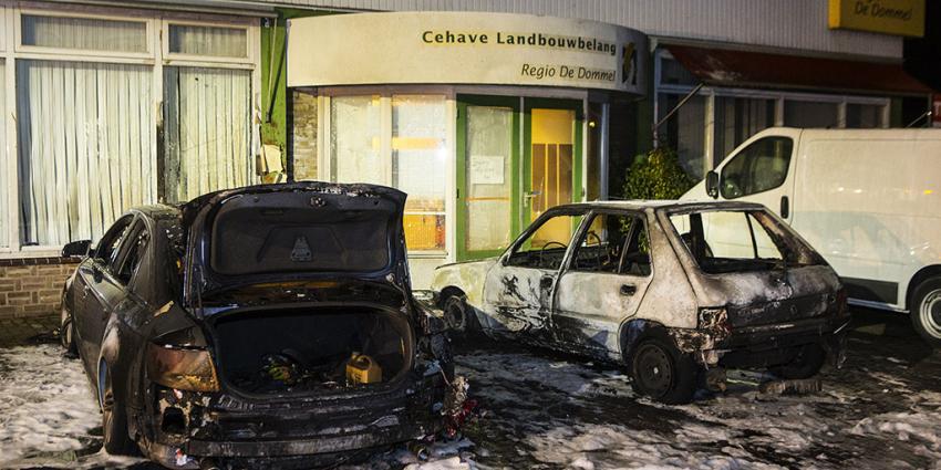 Auto's in vlammen op in Oirschot