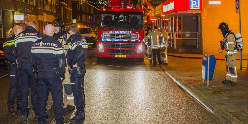 Auto's in brand in parkeergarage in Vlaardingen
