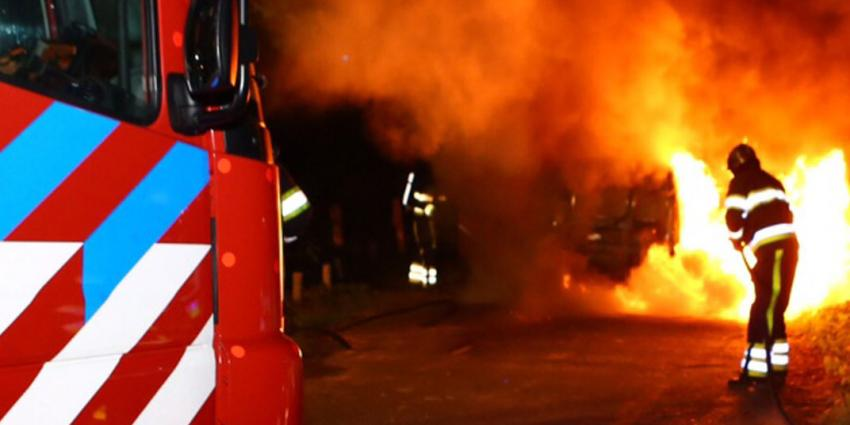 Dode in brandende auto aangetroffen in Lelystad