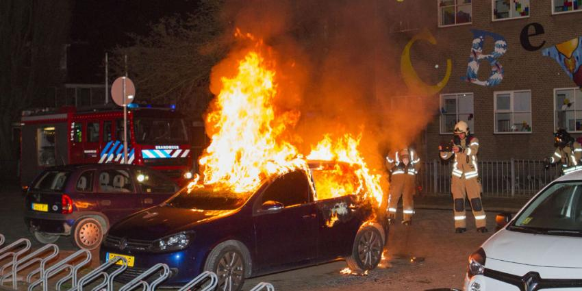 Weer auto in vlammen op in Vlaardingen