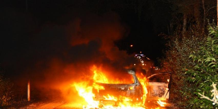 Foto van brandende auto   Henk Brunink