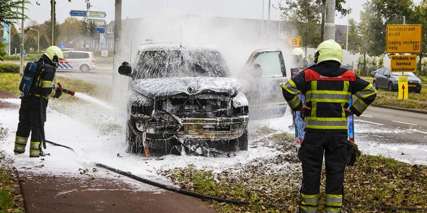 Auto op LPG uitgebrand in Best