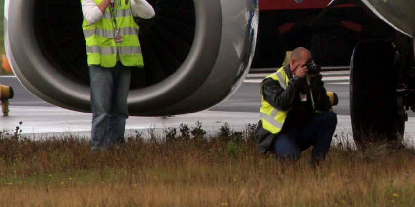 Boeing van KLM belandt in het gras