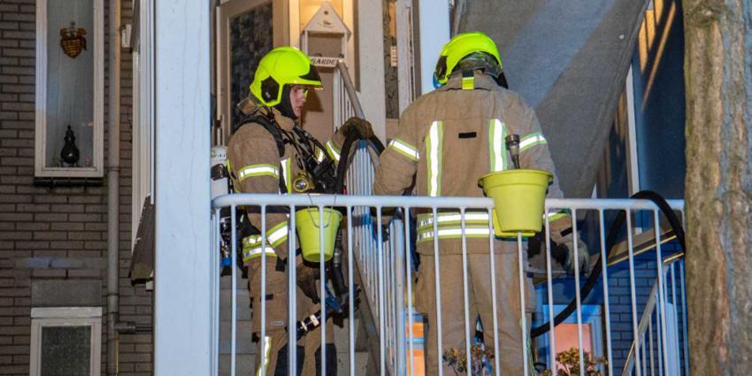 Brand op balkon van woning