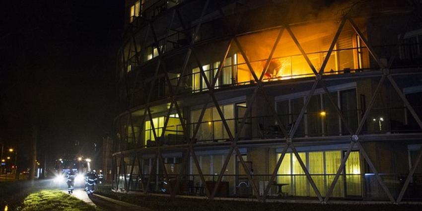 Felle brand op balkon van wooncomplex De Regent in Boxtel