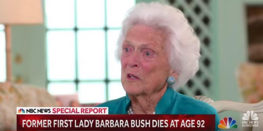 Barbara Bush, vrouw en moeder van een Amerikaanse president, op 92-jarige leeftijd overleden