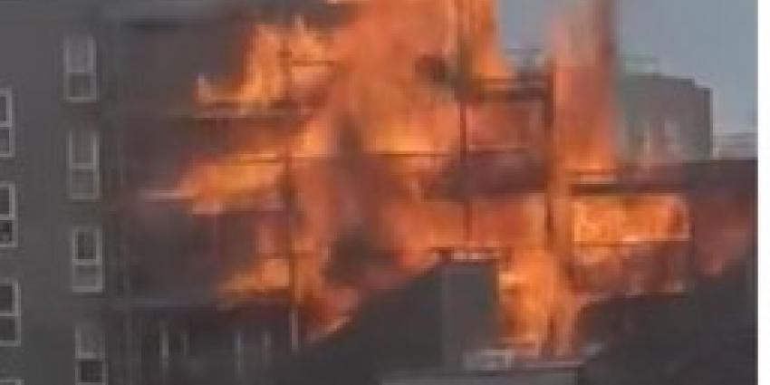 grote brand londen, appartement, 15 brandweerwagens