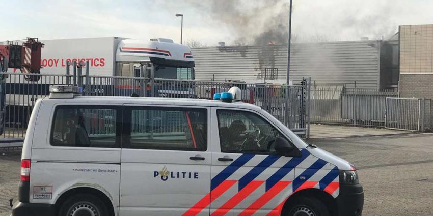 Grote brand bedrijf Schiedam