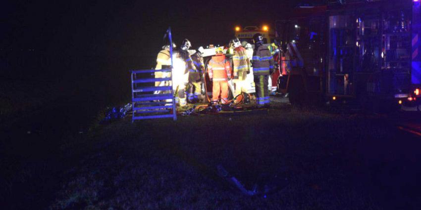 Automobilist overleden bij ernstig ongeval N36 Stegeren