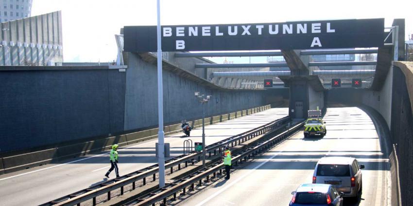 Verkeerschaos rond Beneluxtunnel A4 vanwege storing
