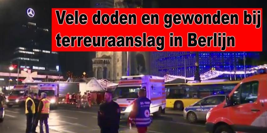 Terreuraanslag op Kerstmarkt in Berlijn. Vele doden en gewonden