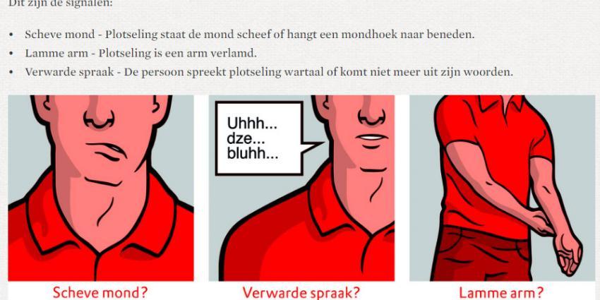 Nederlanders herkennen de signalen van een beroerte onvoldoende