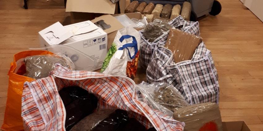 Politie neemt tientallen kilo's drugs en duizenden euro's in beslag