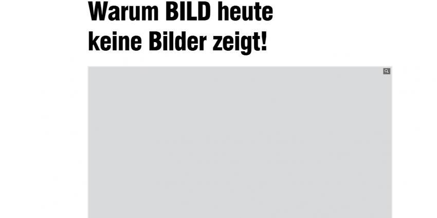 Duitse krant Bild zonder foto's